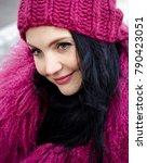 portrait of a woman. beautiful...   Shutterstock . vector #790423051