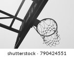 basketball net and hoop closeup ... | Shutterstock . vector #790424551