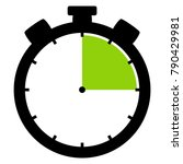isolated stopwatch icon black... | Shutterstock . vector #790429981