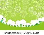 landscape of the green city and ... | Shutterstock .eps vector #790431685