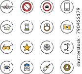 line vector icon set   plane... | Shutterstock .eps vector #790433179