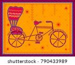 vector design of cycle rickshaw ... | Shutterstock .eps vector #790433989