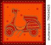 vector design of scooter... | Shutterstock .eps vector #790434025
