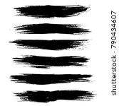 grunge ink brush strokes.... | Shutterstock .eps vector #790434607