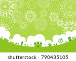 the theme park scenery and... | Shutterstock .eps vector #790435105