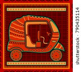 vector design of auto rickshaw... | Shutterstock .eps vector #790435114