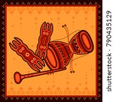 vector design of indian music... | Shutterstock .eps vector #790435129