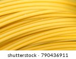 bunch of optic fiber cables | Shutterstock . vector #790436911