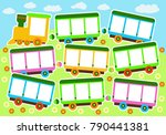 vector illustration of a toy... | Shutterstock .eps vector #790441381