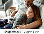 embraced affectionate couple... | Shutterstock . vector #790441444