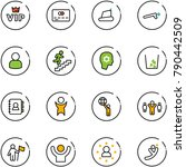 line vector icon set   vip... | Shutterstock .eps vector #790442509