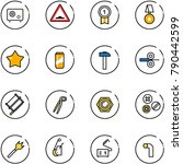 line vector icon set   safe... | Shutterstock .eps vector #790442599