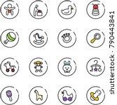 line vector icon set   baby... | Shutterstock .eps vector #790443841