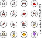 line vector icon set  ... | Shutterstock .eps vector #790445329