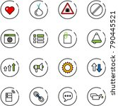 line vector icon set   heart...
