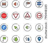 line vector icon set   sign... | Shutterstock .eps vector #790448185