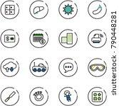 line vector icon set   baggage... | Shutterstock .eps vector #790448281