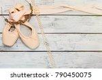 ballet classic dancing shoes... | Shutterstock . vector #790450075