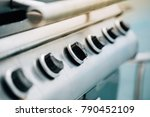close up barbeque gas stove... | Shutterstock . vector #790452109