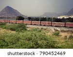 indian railways. freight train... | Shutterstock . vector #790452469