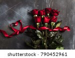 valentines day womens mothers... | Shutterstock . vector #790452961