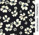 seamless pattern hand drawn... | Shutterstock .eps vector #790454671