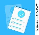 survey research. make a choice... | Shutterstock .eps vector #790455457