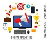 digital marketing concept.... | Shutterstock .eps vector #790458481