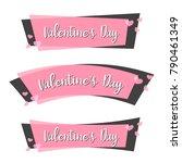 cute sticker happy valentine's... | Shutterstock .eps vector #790461349