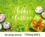 vector card with realistic 3d... | Shutterstock .eps vector #790465891