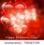abstract image of the heart.... | Shutterstock .eps vector #790467199