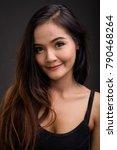 studio shot of young beautiful... | Shutterstock . vector #790468264
