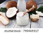 coconut products with fresh... | Shutterstock . vector #790469317