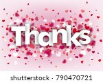 hearts on the pink background... | Shutterstock .eps vector #790470721