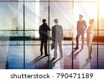 businesspeople silhouettes in... | Shutterstock . vector #790471189