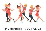 pair figure skating couple boy... | Shutterstock .eps vector #790472725