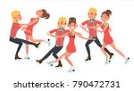 couple with ice skaters vector. ... | Shutterstock .eps vector #790472731