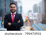 portrait of young bearded... | Shutterstock . vector #790473931