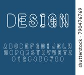 modern abstract alphabet with... | Shutterstock .eps vector #790476769