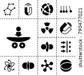 physics icons. set of 13... | Shutterstock .eps vector #790477021