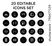 entrance icons. set of 20... | Shutterstock .eps vector #790477159