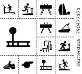 trainer icons. set of 13... | Shutterstock .eps vector #790477171