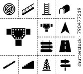 way icons. set of 13 editable... | Shutterstock .eps vector #790477219