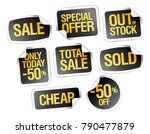 sale stickers collection  ... | Shutterstock .eps vector #790477879