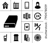 center icons. set of 13... | Shutterstock .eps vector #790478059