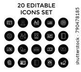identity icons. set of 20...