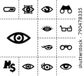 vision icons. set of 13... | Shutterstock .eps vector #790478335