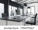 clean coworking office interior ... | Shutterstock . vector #790479367
