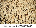 close up of dry coffee bean | Shutterstock . vector #790479445