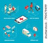 online medical services... | Shutterstock . vector #790479499